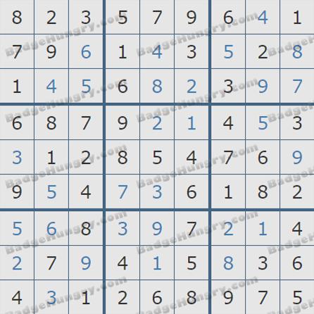 Pogo Daily Sudoku Solutions: July 29, 2019