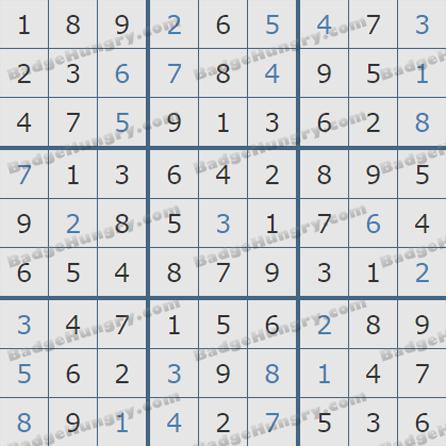 Pogo Daily Sudoku Solutions: July 31, 2019