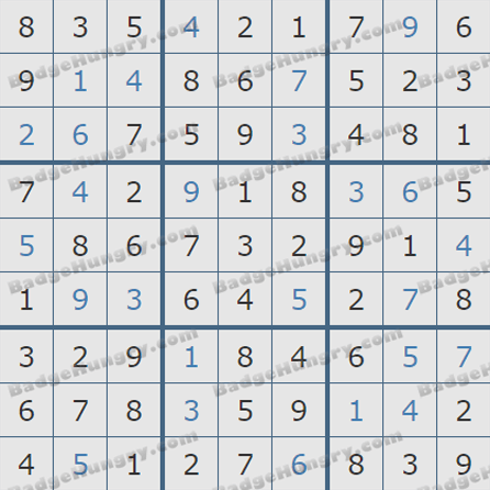 Pogo Daily Sudoku Solutions: August 1, 2019