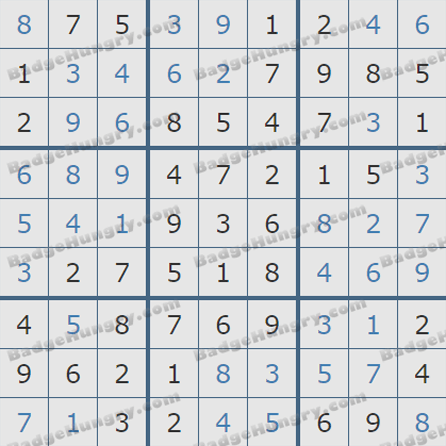 Pogo Daily Sudoku Solutions: August 3, 2019