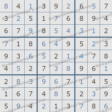 Pogo Daily Sudoku Solutions: August 4, 2019