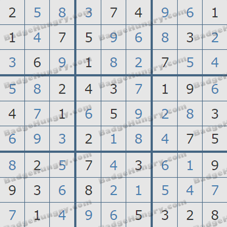 Pogo Daily Sudoku Solutions: August 5, 2019