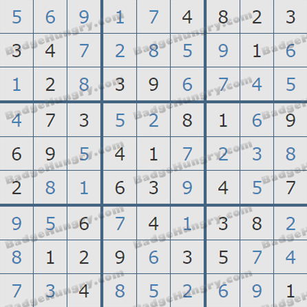 Pogo Daily Sudoku Solutions: August 7, 2019