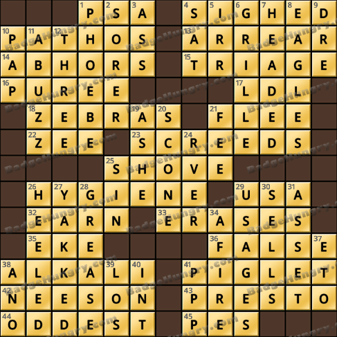 Crossword Cove HD Solution: August 7, 2019