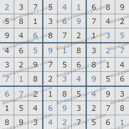 Pogo Daily Sudoku Solutions: August 8, 2019