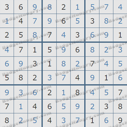 Pogo Daily Sudoku Solutions: August 11, 2019