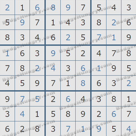 Pogo Daily Sudoku Solutions: August 12, 2019