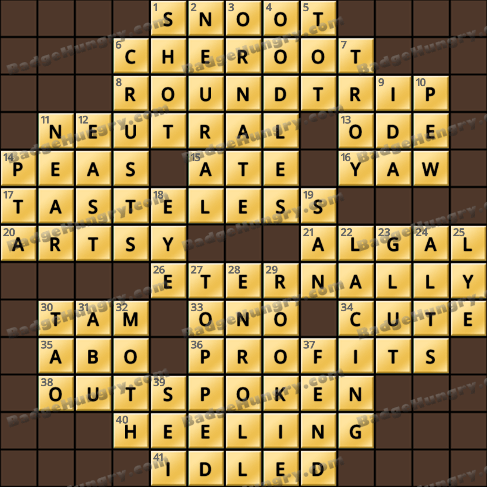 Crossword Cove HD Solution: August 12, 2019