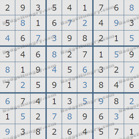 Pogo Daily Sudoku Solutions: August 14, 2019