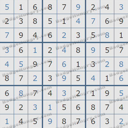Pogo Daily Sudoku Solutions: August 16, 2019