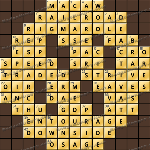 Crossword Cove HD Solution: August 16, 2019