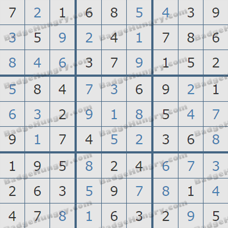 Pogo Daily Sudoku Solutions: August 17, 2019