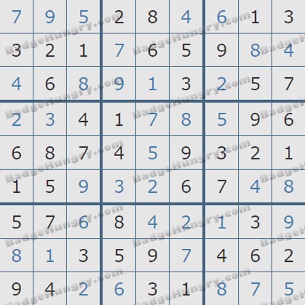 Pogo Daily Sudoku Solutions: August 19, 2019