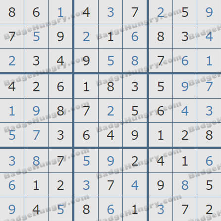 Pogo Daily Sudoku Solutions: August 20, 2019