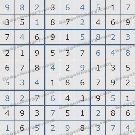 Pogo Daily Sudoku Solutions: August 21, 2019