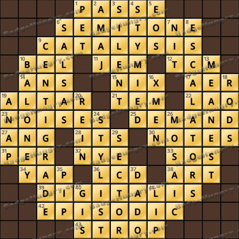 Crossword Cove HD Solution: August 23, 2019