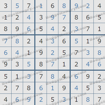 Pogo Daily Sudoku Solutions: August 24, 2019