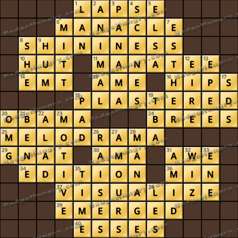 Crossword Cove HD Solution: August 24, 2019