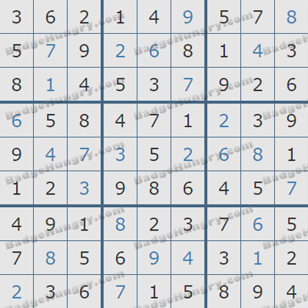 Pogo Daily Sudoku Solutions: August 27, 2019