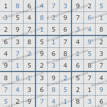 Pogo Daily Sudoku Solutions: August 30, 2019