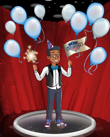 Birthday Challenge Party Badge