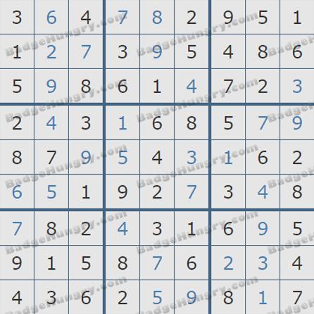 Pogo Daily Sudoku Solutions: September 1, 2019