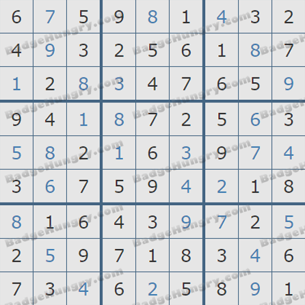 Pogo Daily Sudoku Solutions: September 2, 2019
