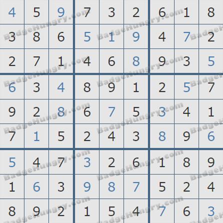 Pogo Daily Sudoku Solutions: September 3, 2019