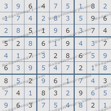 Pogo Daily Sudoku Solutions: September 4, 2019