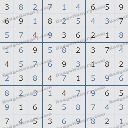 Pogo Daily Sudoku Solutions: September 5, 2019