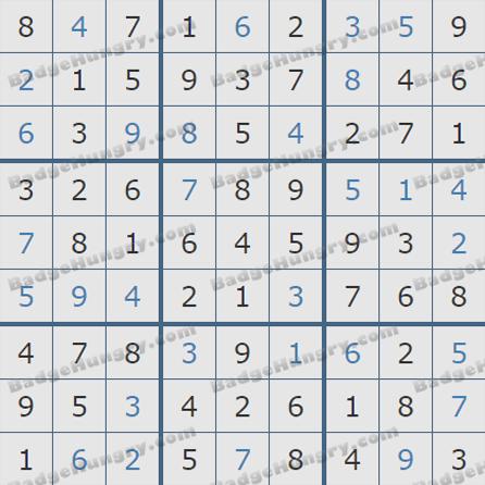 Pogo Daily Sudoku Solutions: September 6, 2019