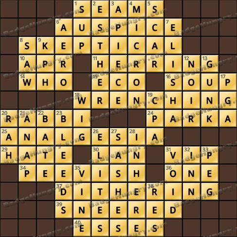 Crossword Cove HD Solution: September 6, 2019