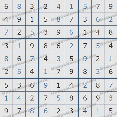Pogo Daily Sudoku Solutions: September 7, 2019
