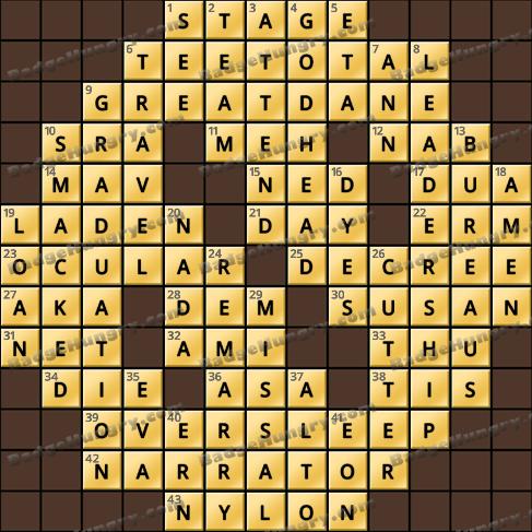 Crossword Cove HD Solution: September 7, 2019