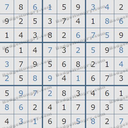 Pogo Daily Sudoku Solutions: September 8, 2019