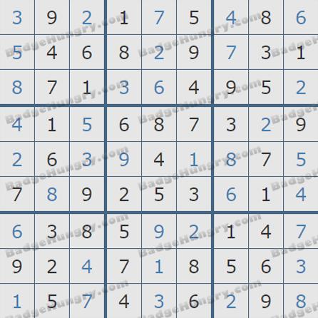 Pogo Daily Sudoku Solutions: September 10, 2019