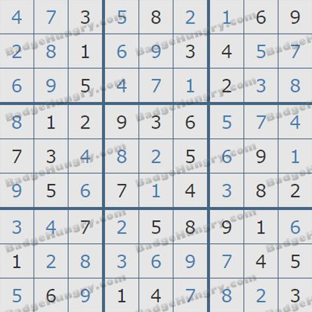 Pogo Daily Sudoku Solutions: September 12, 2019