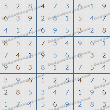 Pogo Daily Sudoku Solutions: September 14, 2019