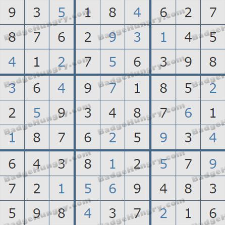 Pogo Daily Sudoku Solutions: September 15, 2019