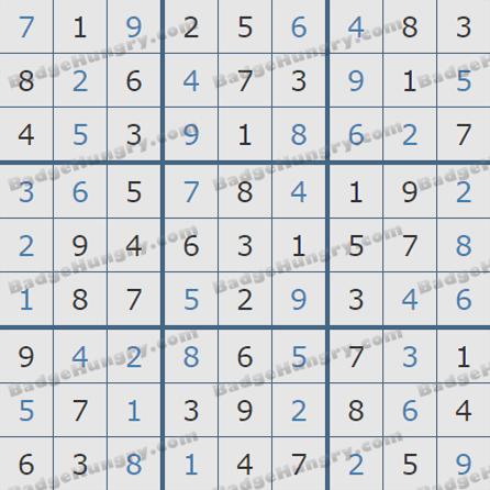 Pogo Daily Sudoku Solutions: September 16, 2019
