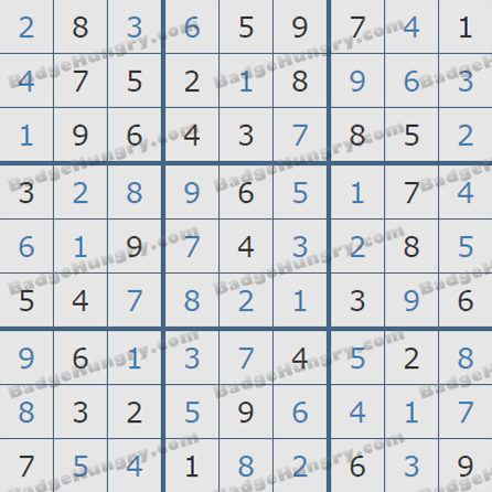 Pogo Daily Sudoku Solutions: September 17, 2019