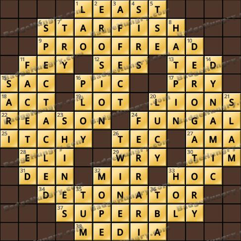 Crossword Cove HD Solution: September 17, 2019