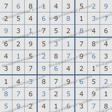 Pogo Daily Sudoku Solutions: September 18, 2019
