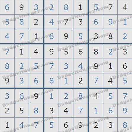 Pogo Daily Sudoku Solutions: September 19, 2019