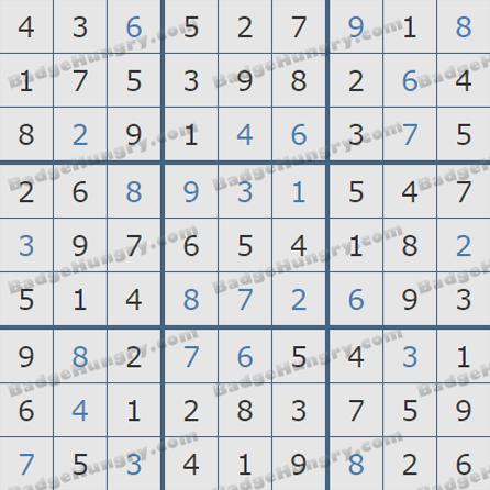 Pogo Daily Sudoku Solutions: September 20, 2019