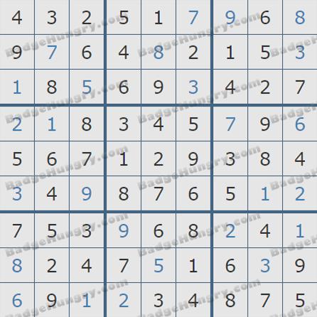 Pogo Daily Sudoku Solutions: September 21, 2019