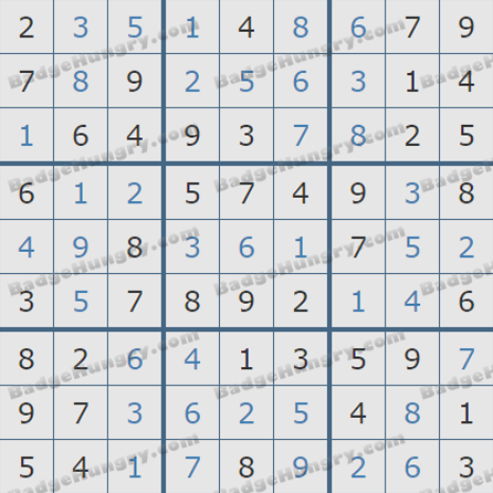 Pogo Daily Sudoku Solutions: September 22, 2019