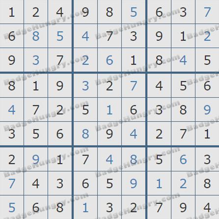 Pogo Daily Sudoku Solutions: September 24, 2019