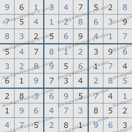 Pogo Daily Sudoku Solutions: September 25, 2019
