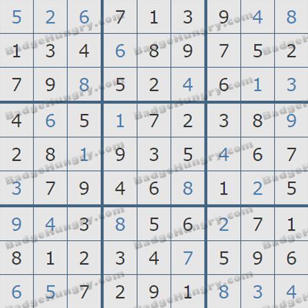 Pogo Daily Sudoku Solutions: September 27, 2019